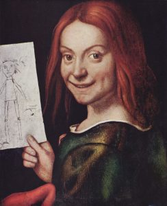 boy with drawing francesco caroto