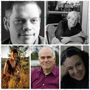 Authors, Ben Kane, Sherry Jones, Ursula Le Guin, GS Johnston and Rebecca Lochlann